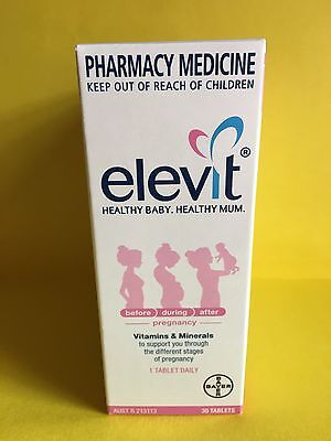 Elevit 30 Tablets 4-Pack (120 Tabs) Plus Free Postage!