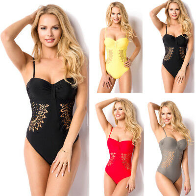 Women Bikini Sexy One-Piece Swimsuit Hollow Out Bathing Suit Swimwear Beachwear