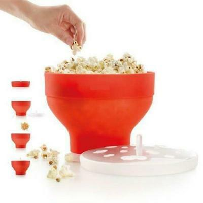 Silicone Microwave Popcorn Bowl Popper Maker Collapsible Kitchen Tools Move MP