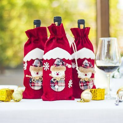 Christmas Decoration Lovely Party Table Decor Wine Bottle Cover Christmas Gifts