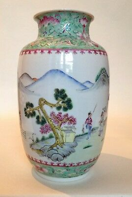 Quality Chinese Republic Famille Rose Porcelain Vase with 4 Character Mark