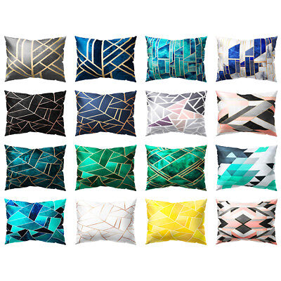 FT- Geometric Striped Printed Throw Pillow Case Cushion Cover Home Sofa Decor Co