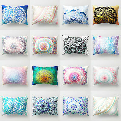 FT- Mandala Printing Decorative Cushion Cover Pillow Cases Home Car Decor Candy