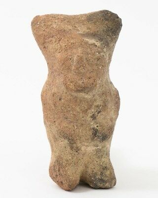 "Pre-Columbian Artifact Peruvian Ceramic Standing Chancay Dance Figurine 3.5"" T"