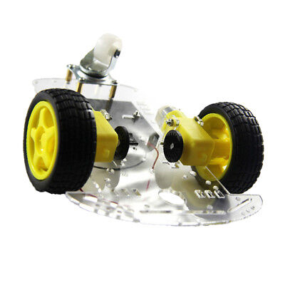 Acrylic 2WD Smart Robot Car Chassis Kit w/ Speed Encoder Motor For Arduino