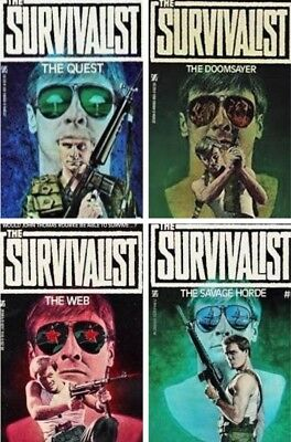 (4) SURVIVALIST Series Book Lot #3,4,5,6 by Jerry Ahern NEW PB Post-Apocalyptic