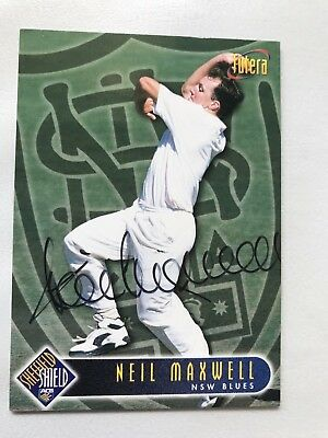 Neil Maxwell signed card