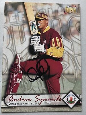 Signed Futera 1996 Cricket Card Andrew Symonds Excellent!!