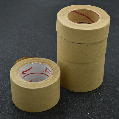 1 Roll 27m Kraft Paper Adhesive Tapes Water Activated Accessories for Office