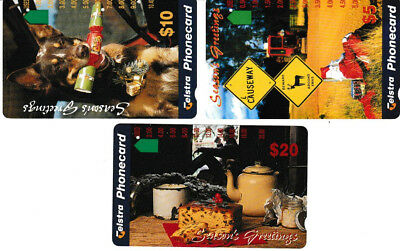 ****  TELECOM  Phonecards - Seasons Greetings Set of 1995 -   SUPERB copies