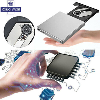 Portable External USB 2.0 DVD CD RW Drive Burner writer player  Windows Computer