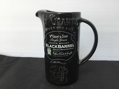 Whiskey water jug Grants Black Barrel