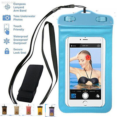 F801 Universal Waterproof Case Bag Pouch with Arm Neck Strap For Smart Phone