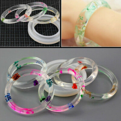 2E12 Round Silicone Resin Curve Bracelet Bangle Mould Mold Jewelry Making Tool