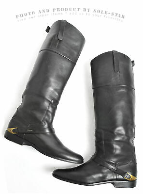 $1500 Excellent Golden Goose 40 9 Charlye Tall Riding Boots Italy Womens Black