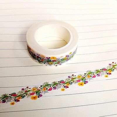 Cherry Blossom/Camera/Donuts/Flowers/Pink Heart/Stars Washi Tape Paper 1.5cm*10m