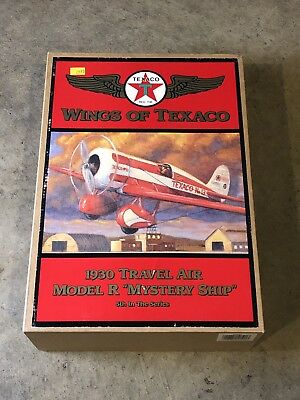 Wings of Texaco 1930 Travel Air Model R Airplane Coin Bank 5th in series NIB!!