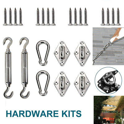 8X Stainless Steel Sun Sail Shade Canopy Fixing Fittings Hardware Accessory Kit