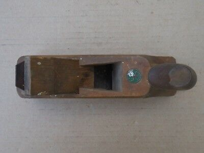 Vintage Wood Plane with Logo inserted in wood