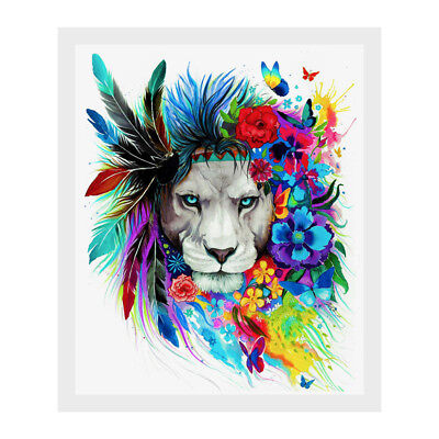 Framed Modern Style Lion Canvas Print Painting Picture Art Mural Wall Home Decor