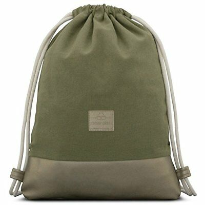 3c5c78dd85a4c Johnny Urban Turnbeutel Hipster Grün Metallic Luke Canvas Gymsack Gym Bag