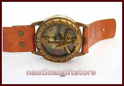 Lot of 25 pcs Antique Style Steampunk Wrist Brass Compass Watch Type Sundial