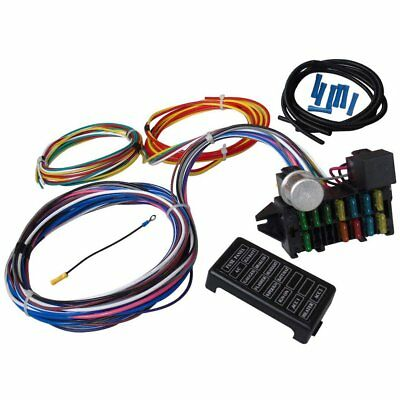 12 Circuit Universal Wiring Harness For Muscle Car Hot Rod Street Rod XL WiresS7