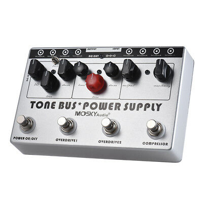 Mosky TONE BUS POWER SUPPLY Multi Effect Guitar Pedal 8 Outputs 3 Effects Pedal