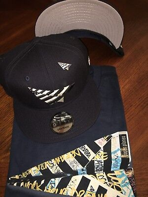 1c4af14c755 Roc Nation Navy Boy Grey Undervisor 9Fifty Hat W Pin Paper Planes Jay-Z Hat