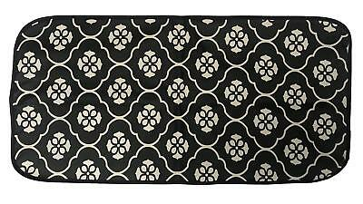 Black Flower Design Laminated Waterproof Foldable Baby Changing Mat Waterproof