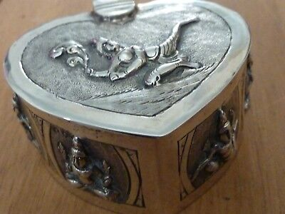 Antique Asian Silver Trinket  box