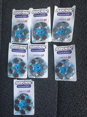 NEW Rayovac Extra Mercury Free Hearing Aid Batteries, Size 675 (Blue)