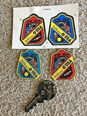 Williams Pinball Pinbot  Promo Plastic Key Chain/Fob, Plastics and Decals NOS