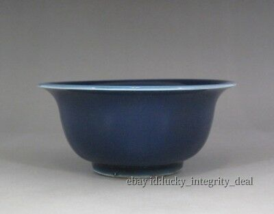 Old Chinese Porcelain Blue Glaze Bowl.Mark