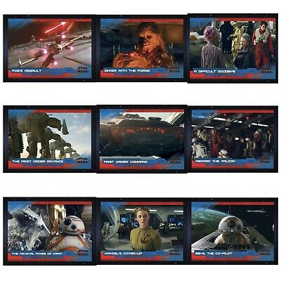 LAST JEDI SELECTS SERIES 2 WAVE 2 BLUE SET OF 9 CARDS Star Wars Trader Digital