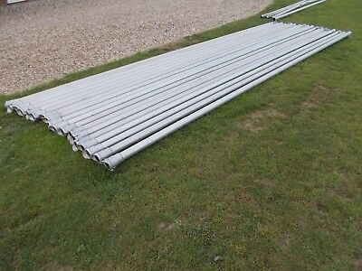 """Farrow Aluminium Irrigation pipes 3""""x30"""" stored outside my Tractor / Digger Shed"""