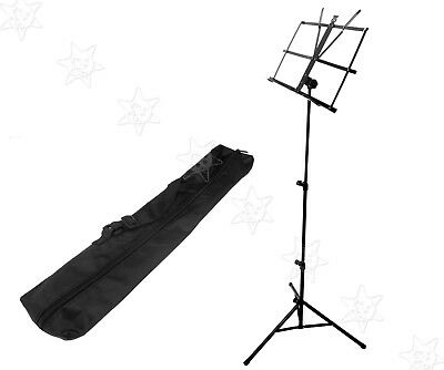 New Folknle Metal Adjustable Sheet Music Stand With Carry Bag