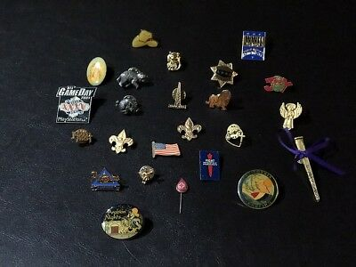 Lapel Pins Lot of 24 Scouts animals razorback angel +