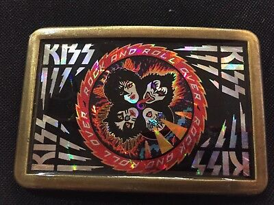 Vintage Kiss Rock And Roll Over Belt Buckle Not Pacifica