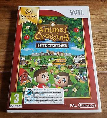 ANIMAL CROSSING LET'S GO TO THE CITY Jeu Sur Nintendo Wii Neuf Sous Blister VF