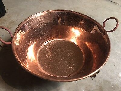 Mexican Pure Copper Pot for Carnitas Cazo Open - HUGE 18 Inch Cobre LIGHT GA 20