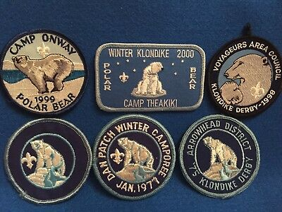 (nct) Boy Scouts - Assorted POLAR  BEAR   theme event patches (23)