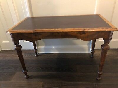 ANTIQUE VICTORIAN Walnut Side/Writing Table ca 1870