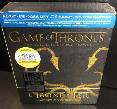 Game of Thrones: The Complete Second Season 2 Blu-ray Brand New Best Buy Greyjoy