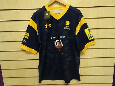 Worcester Warriors 2017/18 Home Shirt SIGNED BRAND NEW