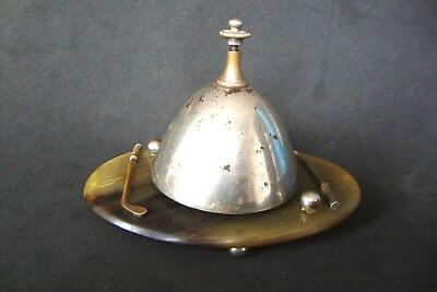 Antique Hotel Desk Bell with golf ornaments it does not work