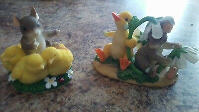Fitz and Floyd Charming Tails Lot of 2 DUCKY WEATHER and Shhh Don't Make A Peep