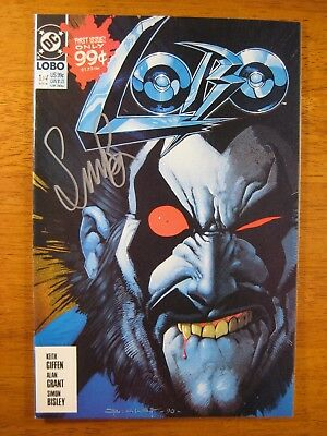 Wow! DC LOBO #1 **SIGNED BY SIMON BISLEY!** COA