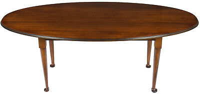 New Antique Style Oval Long Dining Room Kitchen Cherry Rustic Farm Table Seats 8