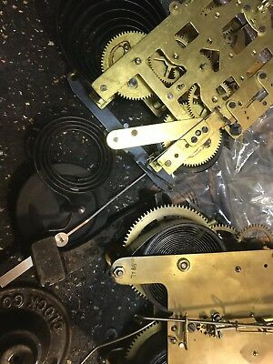 Antique Seth Thomas Kitchen Parlor Clock Movement With Alarm Parts Repair